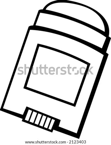 Deodorant Stick Applicator Stock Vector Illustration