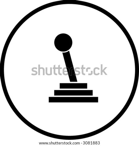 Gear Shift Stick Symbol Stock Vector Illustration 3081883