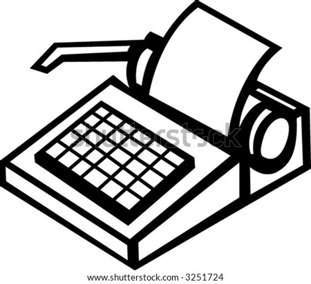 Manual Typewriter Stock Vector Illustration 3251724