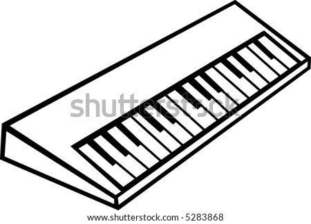 Electronic Musical Synthesizer Keyboard Stock Vector