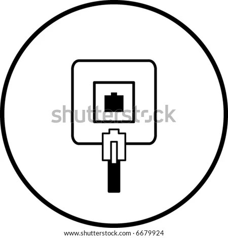 Phone Jack Symbol Stock Vector Illustration 6679924