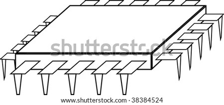 Microprocessor Or Integrated Circuit Stock Photo 38384524