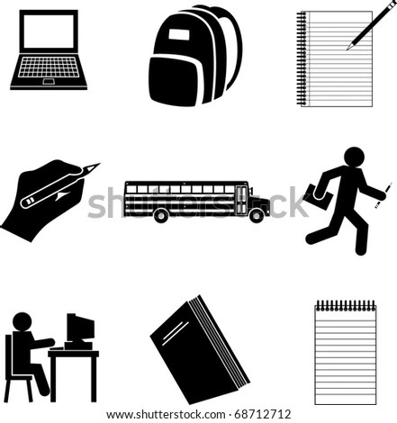 School Symbols Mini Set Stock Vector Illustration 68712712