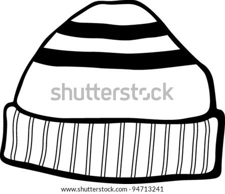 Beanie Hat Stock Vector Illustration 94713241 : Shutterstock