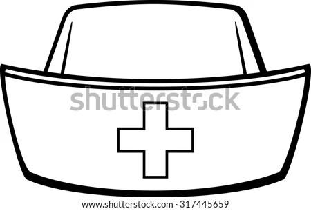 Nurse Cap Stock Vector Illustration 317445659 : Shutterstock