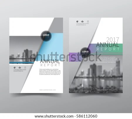 business annual report cover page template in A4 print size with ...