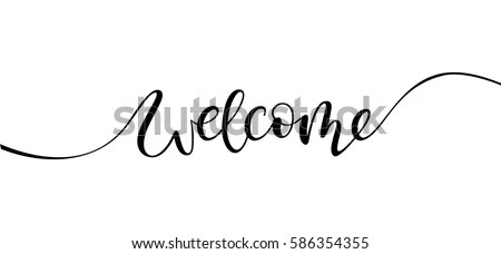 Royalty Free Stock Photos and Images: welcome lettering