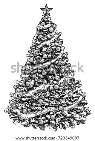 Realistic Christmas Tree Drawing : realistic, christmas, drawing, Realistic, Christmas, Drawing, GetDrawings, Download