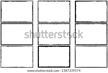 Grunge frame set. vector template Stock Photo 197175722