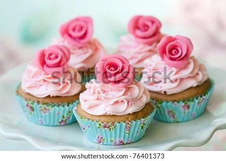 stock photo : Vintage cupcakes