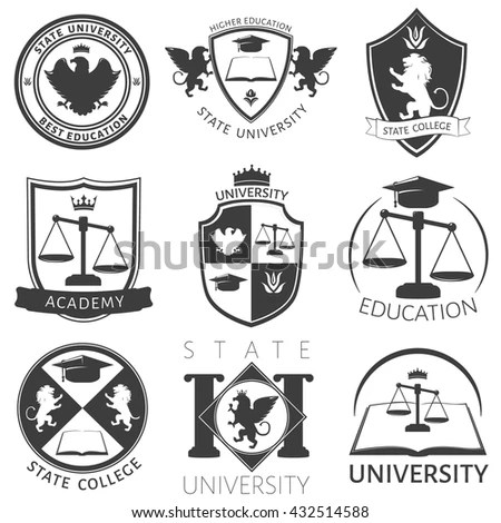 Royalty-free Law office logos set with scales of