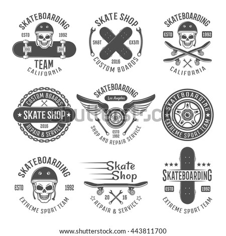 Set of Vintage Motor Club Signs and… Stock Photo 237024364