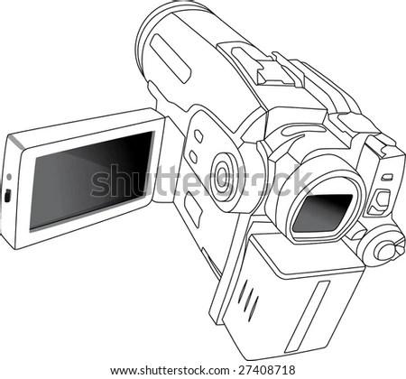 Mini dv digital video Free Vector / 4Vector