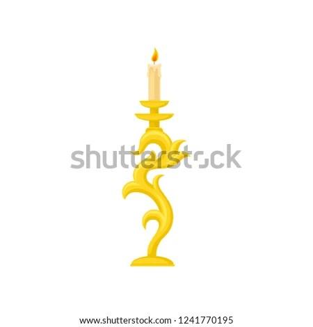 vintage candlestick vectors download