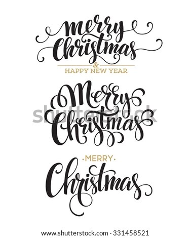 Set of 7 hand-lettered CHRISTMAS… Stock Photo 150519290