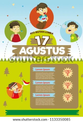 Lomba Agustusan Vector : lomba, agustusan, vector, Shutterstock, PuzzlePix