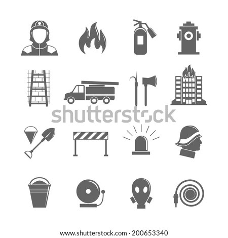 Royalty-free Emergency icons, mono vector symbols