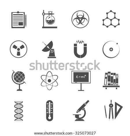 Chemical icons set (science elements… Stock Photo