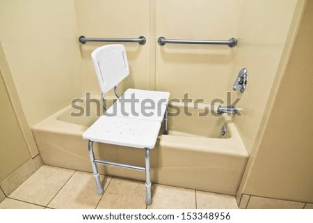 The Bathing Chair Helps The Disabled And Handicap Use The