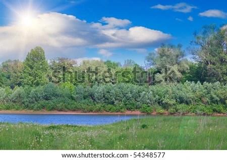 landscape depicting river
