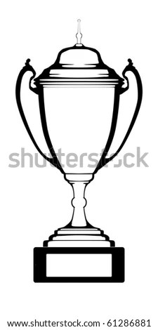 Outline Of Championship Cup Stock Photo 61286881