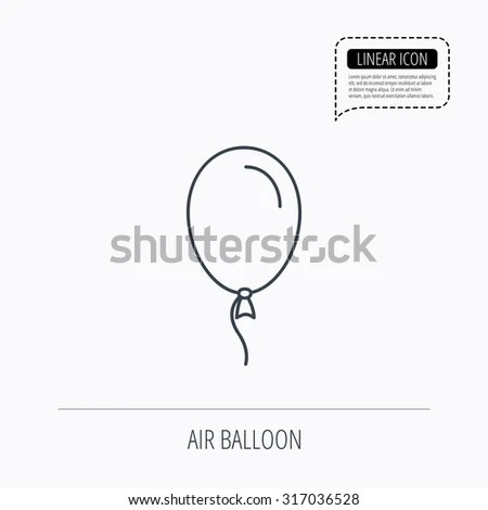 Vector Images, Illustrations and Cliparts: Balloon icon