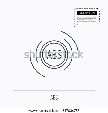 Vector Images, Illustrations and Cliparts: ABS icon