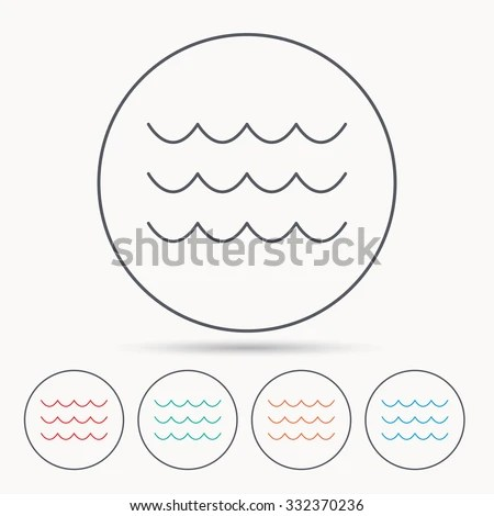 Royalty Free Stock Photos and Images: Waves icon. Sea