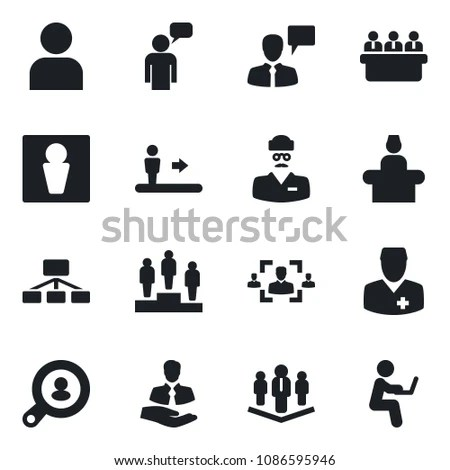 Vector silhouette business conference… Stock Photo