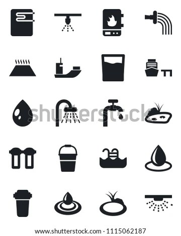 Water treatment system and septic tank… Stock Photo