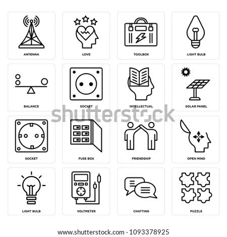 Vector set of 16 icons related to… Stock Photo 309842468