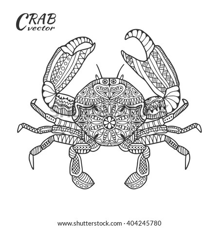 Zen Coloring Crab Coloring Pages