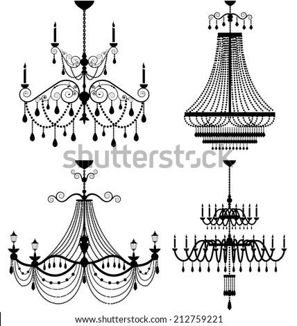 Chandelier Lamp Vector - 212759221 : Shutterstock