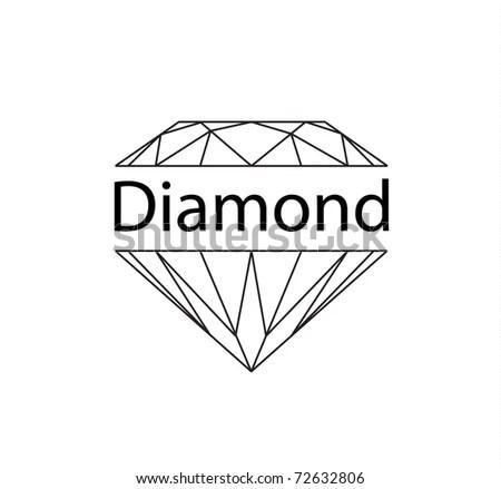 Diamonds Wireframe On White Background Stock Vector