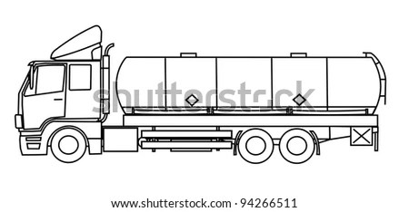 Royalty Free Stock Photos and Images: Tank truck vector