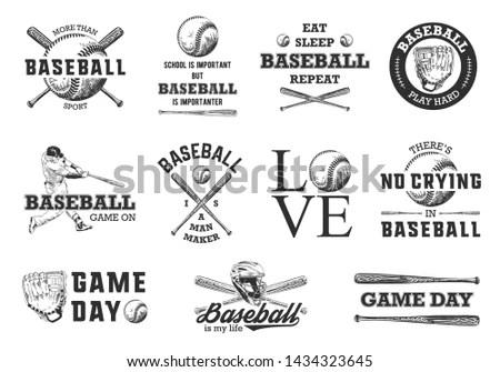 Set of vintage fishing labels, badges… Stock Photo