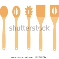 Kitchen Spoons Resurfacing Cabinets Wooden Utensils Download Free Vector Art Stock Graphics Tools For The Paddles Cooking Row Of Assorted