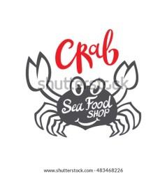 vector crab seafood branding packaging silhouette craft restaurant flat template shutterstock