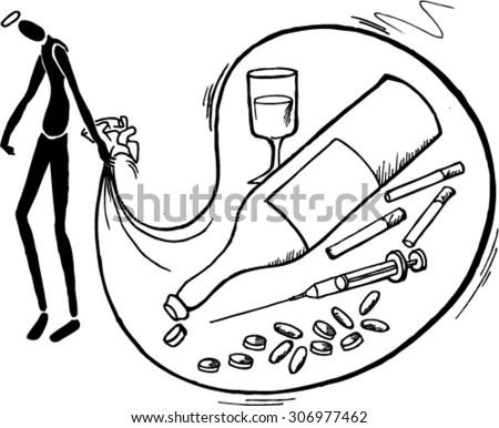 No Drugs, Sketch Stock Vector Illustration 306977462
