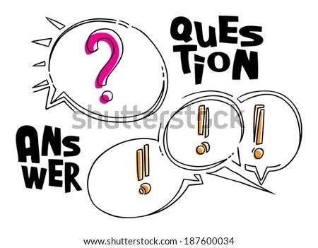Vector Eps Illustration Of Question And Answers Funny