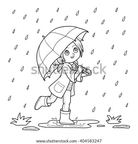Download Children Running In The Rain Wallpaper 1920x1080
