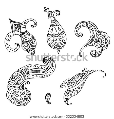Zentangle vector Gold Fish for tattoo… Stock Photo