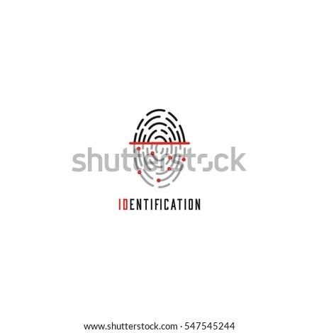 Fingerprint Scanner Logo Mockup, Identification User Id
