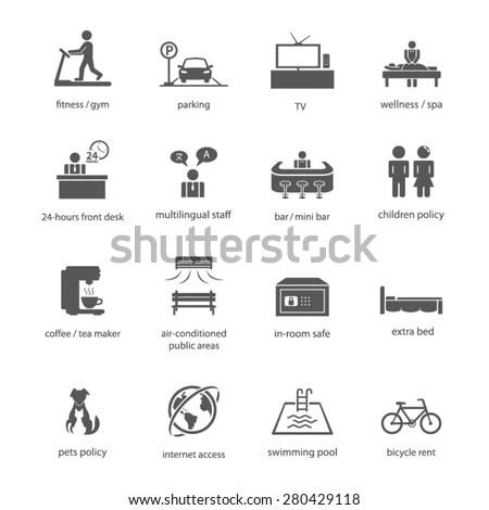 Icon Sign Symbol Hotel Lodge Inn Amenity Facility