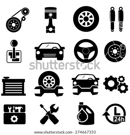 Royalty-free Car transmission, gearbox icons #154430597