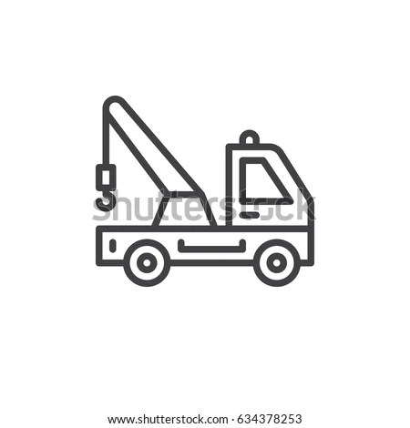 Tow Truck Icon Free Vector