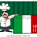 Restaurant menu design with cutlery silhouette on the country flag