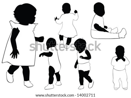 people outlines for kids