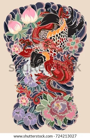 Japanese Peony Bouquet Tattoo