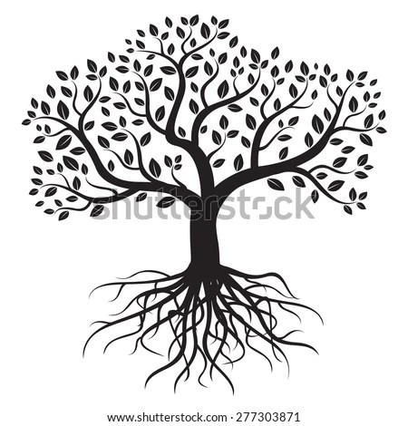 Royalty-free Black vector tree and roots #276472235 Stock